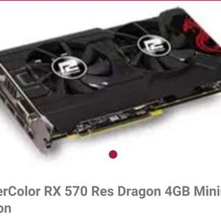 POWERCOLOR RX570 4GB RED DRAGON