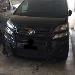 Vellfire black bison bodykit