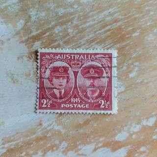 澳洲郵票1945年已銷郵票1枚