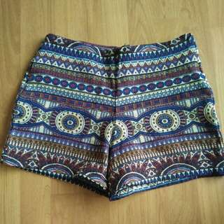 High Waisted Tribal Shorts #under90
