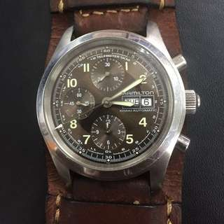 HAMILTON KHAKI FIELD MILITARY CHRONOGRAPH AUTOMATIC H715560
