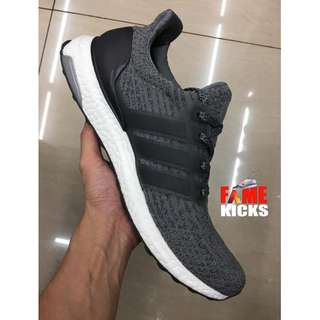Adidas Ultra Boost for Men and Women Unisex OEM Premium Authentic Shoes (Gray and White)