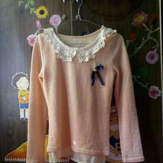 Baju orange soft pastel