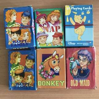 [#HUAT50Sale]  8 Sets of Card Games TO BLESS (Happy Family|Snap|Donkey|Old Maid|Disney)