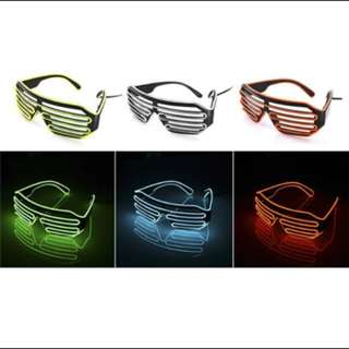Fashion Neon Led Light Glasses / Spectacles. Events/ Parties/ Clubs/ Birthday/ Bachelor/ Bachelorette/ Gifts