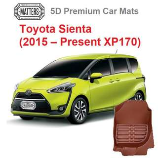 MATTERS 5D Premium PU Leather Car Mats For Toyota Sienta (2015 – Present XP170) Qoo10 Official Store