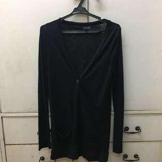 Topshop Black Long Cardigan