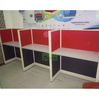 Office Partition - cubicles - workstation red-black