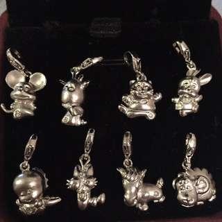 12生肖925純銀鑽石吊墜,手鍊扣,包郵