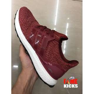 Adidas Ultra Boost for Men and Women Unisex OEM Premium Authentic Shoes (Maroon and White)