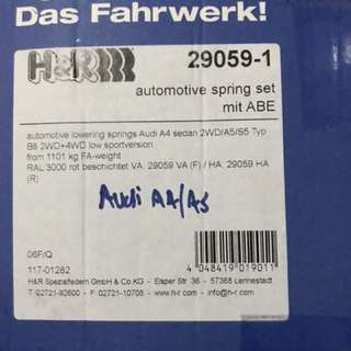 H&R Sport Spring for Audi A4/S4 A5/S5