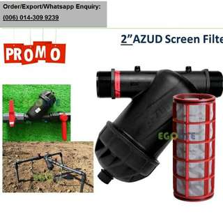 "AZUD 2"" inch Screen Water Filter for Farm Agriculture or Garden"