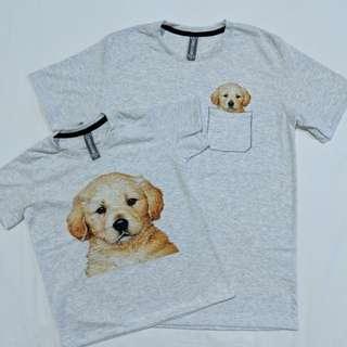 Pocket animal tshirt: family set (labrador)