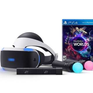 Playstation VR Headset with Camera and 2 x Move Controllers