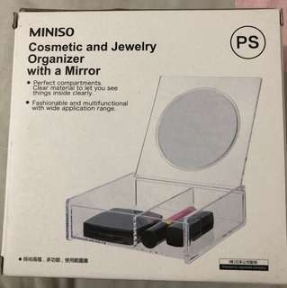 miniso cosmetic organizer and jewelry