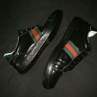Gucci black leather sneaker Original