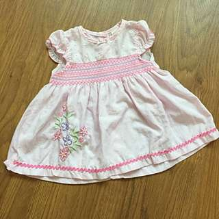 Baby Girl Smocked Dress - Pink