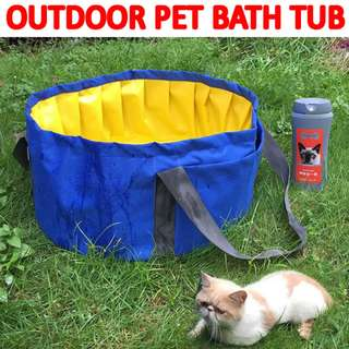 TPE051 Travel Pet Bath Tub Dog Pool Outside Clean Cat Pool With Handle
