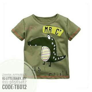 18 MONTHS tshirt boys crocodile cartoon