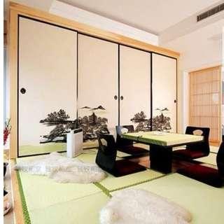 日式榻榻米地墊 (陽台墊, 窗台墊,和式,日系,和室,日本,席子,稻草芯榻榻米)-歡迎訂做