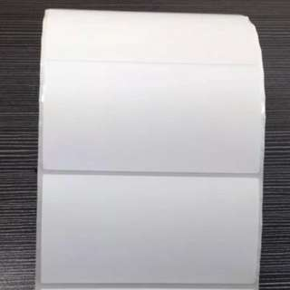 Blank Adhesive Sticker Thermal Label Sticker 80mm x 40mm- NO MEET UPS