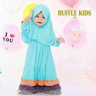 Gamis Anak Ruffles Kid 3 Warna