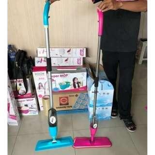 Alat Pel Lantai Spray Mop Ultima Stainless Pink, Hijau, Biru