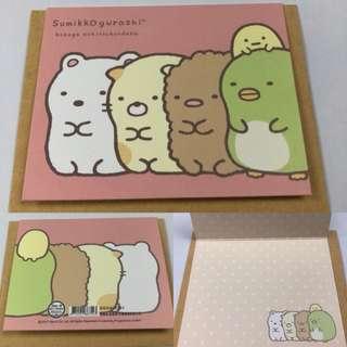 角落生物 小卡片 聖誕卡片 生日卡片 萬用小卡 牆角生物 Sumikko Gurashi