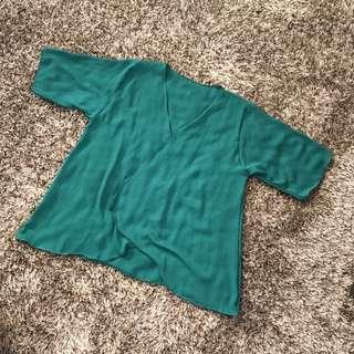 Kimono Green Top