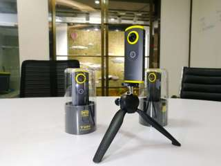 Detu Twin 360°雙鏡頭VR全景相機 潮玩臉書VR直播 全新