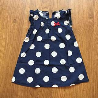 Blue Polka Dotted Dress