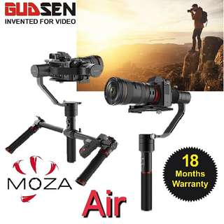 Moza Air 3-Axis Motorized Gimbal Stabilizer/ With Remote /Local 18 Months Warranty! Ready Stock! Free GP Powerbank!