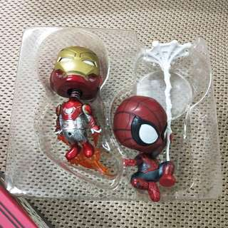 鋼鐵人與蜘蛛人 桌上型收藏行公仔