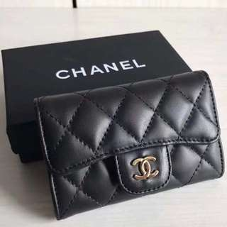 Chanel coin bag short wallet 羊皮