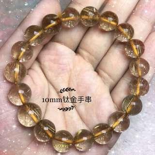 10mm 钛晶手串crystal bracelet