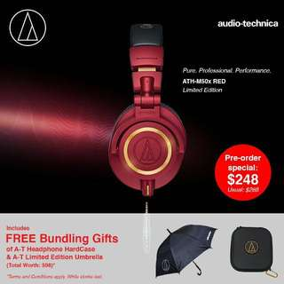Audio Technica M50X limited edition Red