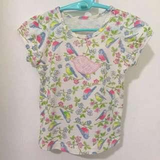 Girl t-shirt with birds