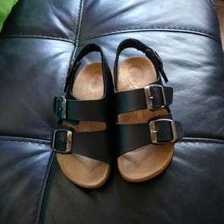Black Bonds Leather sandal for kids
