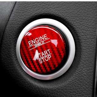 Mercedes-Benz Start/Stop Carbon Fibre Button Cover