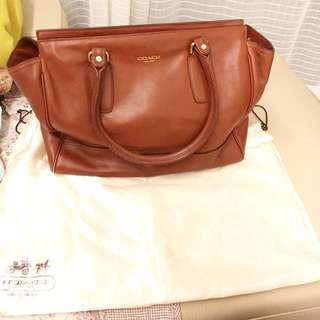 Coach leather bag (chocolate)