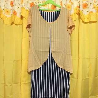 Stripes Dress XXL