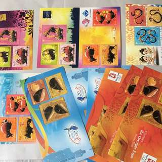 Singpore zodiac miniature sheets clearance sales!