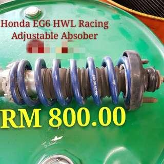 Honda EG6 HWL Racing Adjustable Absober