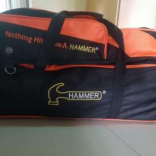 3 balls bowling bag. (Tote) Hammer