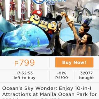 MetroDeal Voucher for Manila Ocean Park 10 in 1