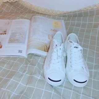 小白鞋 帆布鞋 開口笑小白鞋 百搭鞋