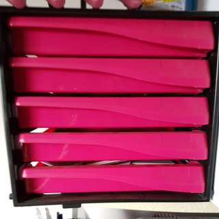 Hot pink book tray