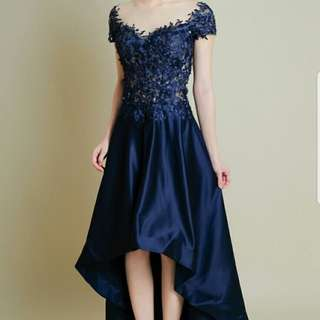 Serenade Dress in Navy Blue