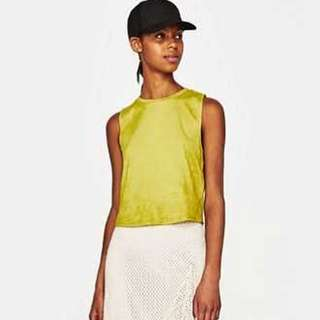 Zara Lime Green Faux Suede