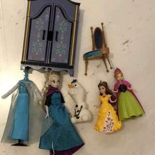 Disney Frozen Elsa and Olaf ,belle, Anna  figurine dolls set